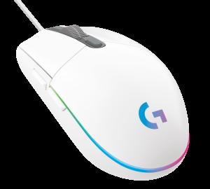 Gaming Maus Logitech G203 Lightsync Iso white
