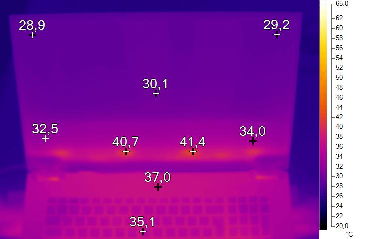 Wärmebild Office 2 - XMG Pro 17 Review