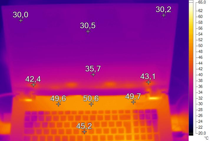 Wärmebild Last 4 - XMG Pro 17 Review