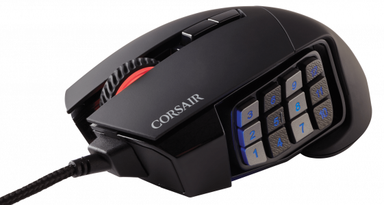 Gaming Maus Corsair Scimitar RGB ELITE Iso 1