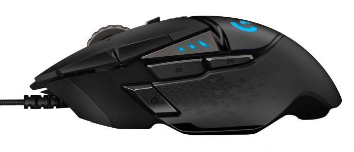 Gaming Maus Logitech G502 Hero Seite L
