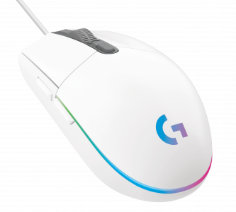 Gaming Maus Logitech G203 Lightsync Iso white